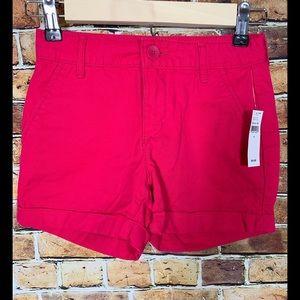 Girls GAP Fuchsia Cuff Shorts Sz 8 New With Tags